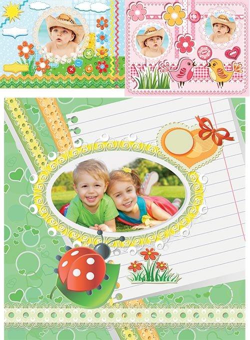 Детские фотошоп рамки для малышей