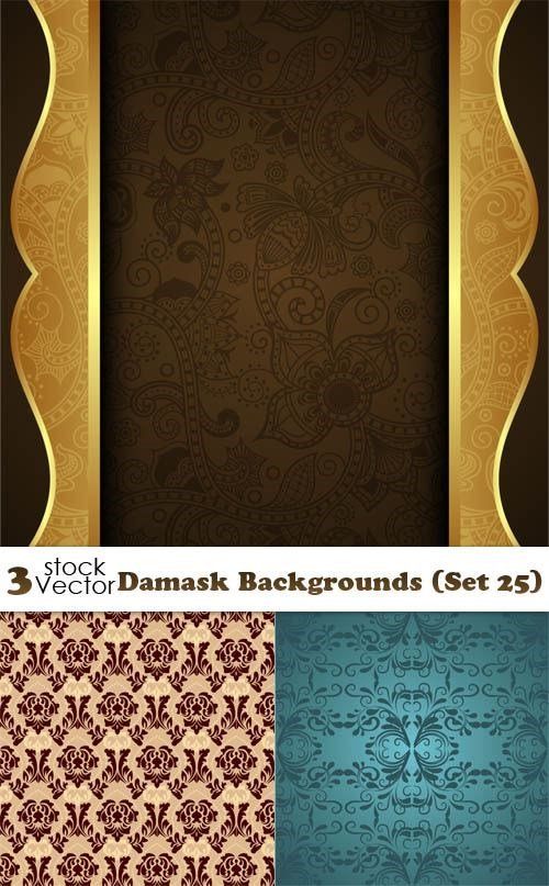 Vectors - Damask Backgrounds (Set 25)