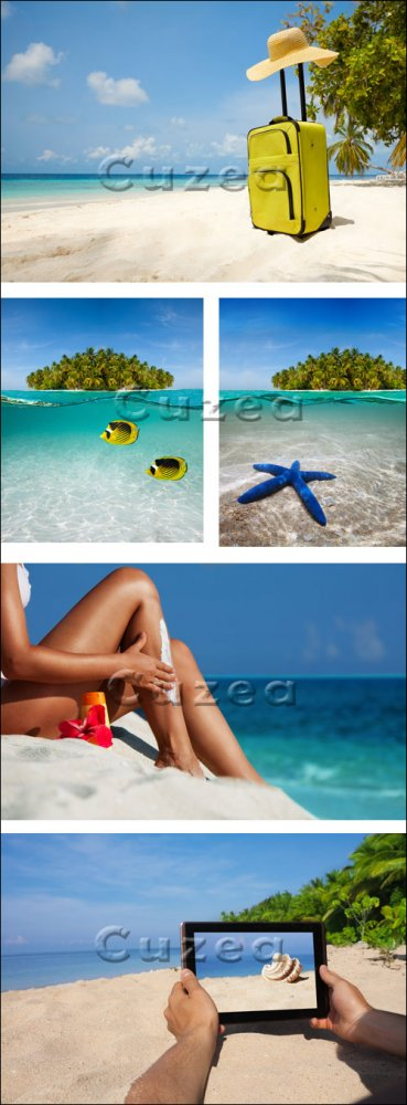 Каникулы на море / Holiday on the beach - stock photo