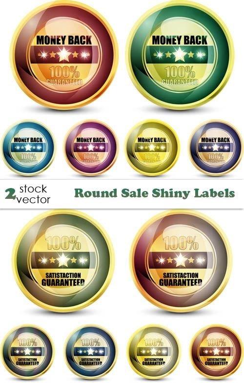 Vectors – Round Sale Shiny Labels