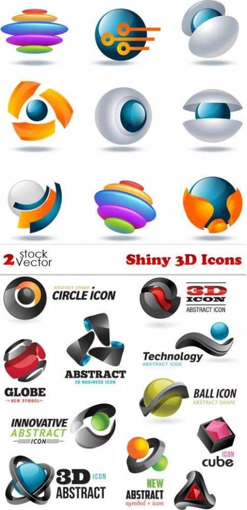 Vectors – Shiny 3D Icons
