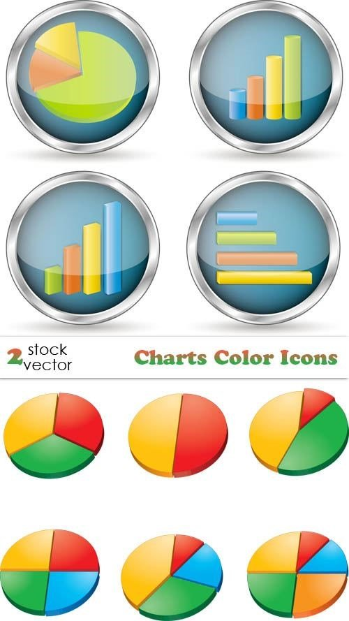 Vectors – Charts Color Icons
