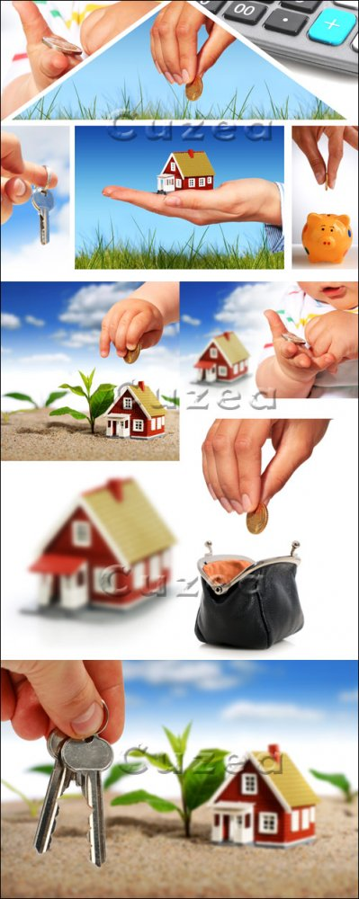 Покупка дома в кредит / House purchase on credit - stock photo
