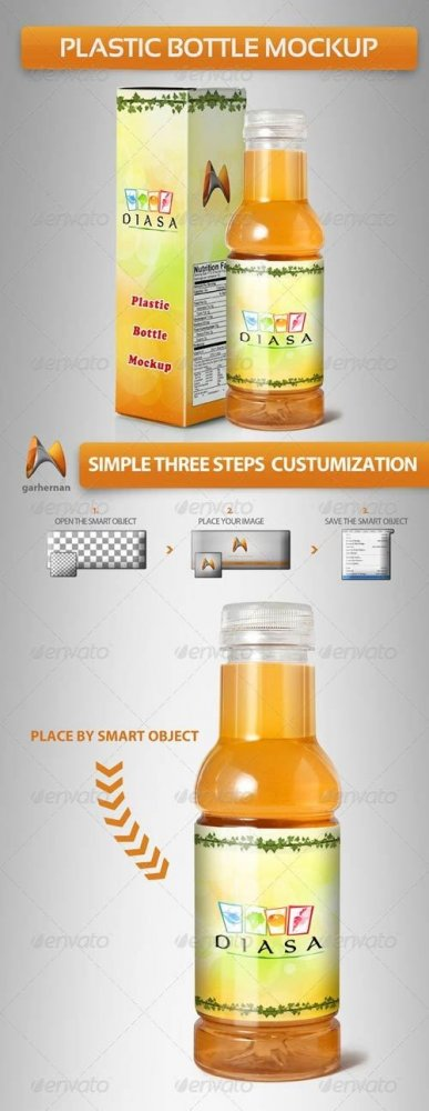 GraphicRiver Plastic Bottle Mockup