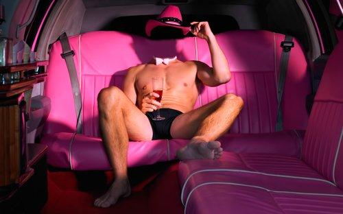 Шаблон для фотошопа  - Мужчина в лимузине