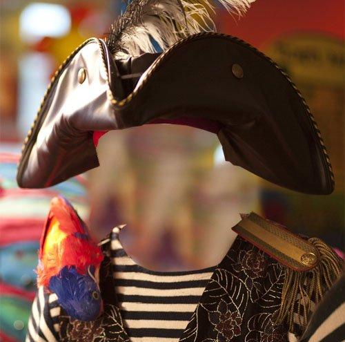 Пират с попугаем - шаблон для фотомонтажа