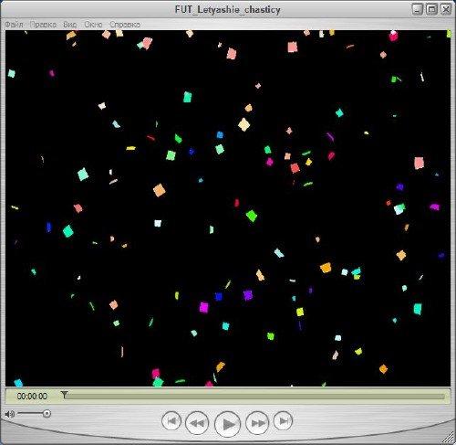 Абстрактный футаж - Квадратные частицы на альфа канале
