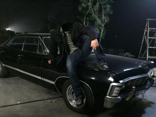 Мужской шаблон - На машине шевроле импала
