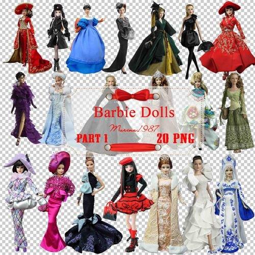 Клипарт PNG на прозрачном фоне - Куклы барби (Часть 1)