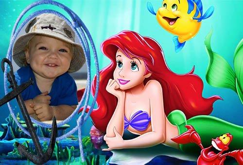 Детская фоторамка - Ариэль и ее друзья