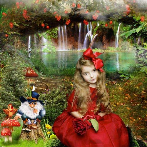 Шаблон  детский  '' Волшебное озеро''
