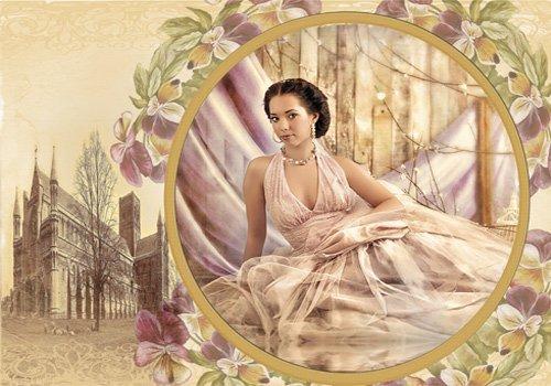 Рамка женская  ''Винтажная открытка ''