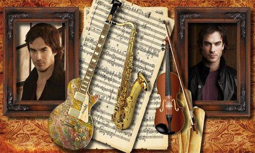Рамка мужская  '' Эта музыка, музыка, музыка ''