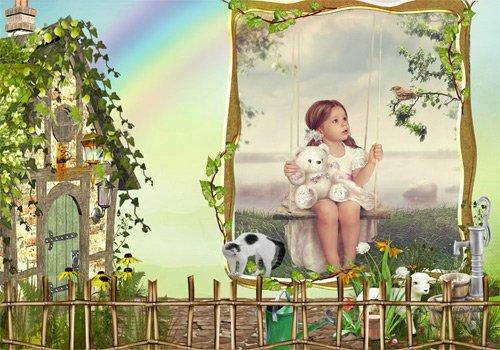 Рамка детская  ''Бабушкин дворик ''
