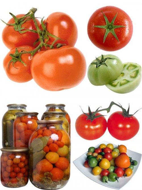 Фотосток овощи: Помидоры красные и зеленые, свежие и засоленые