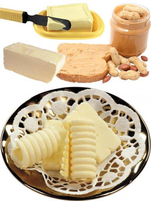 Масло сливочное и масло арахисовое