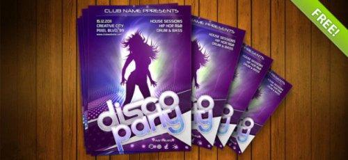 Креативный флаер и постер для ночного клуба в psd / Night club flyer psd te ...