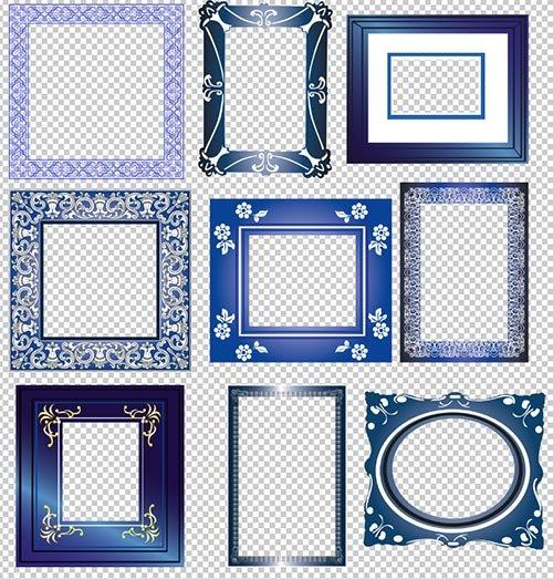 Винтажные рамки вырезы на прозрачном фоне