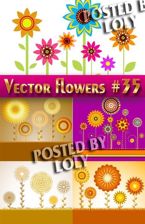 Цветы в векторе #35 - Векторный клипарт