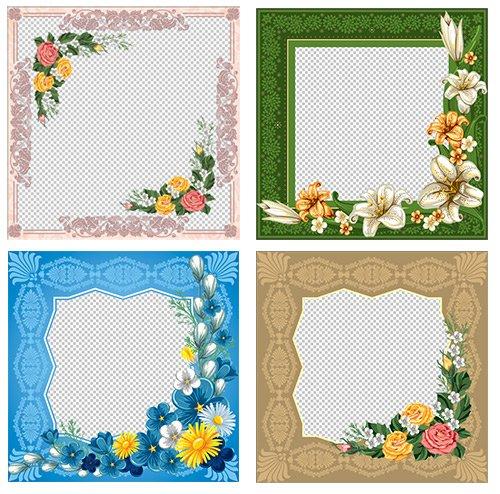 Фотошоп рамки с узорами и цветами