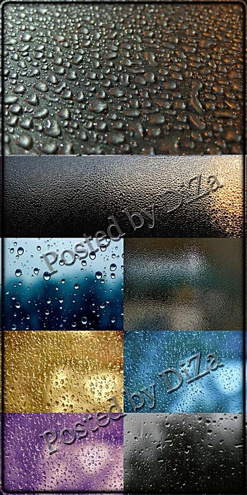 Текстуры капель на поверхности