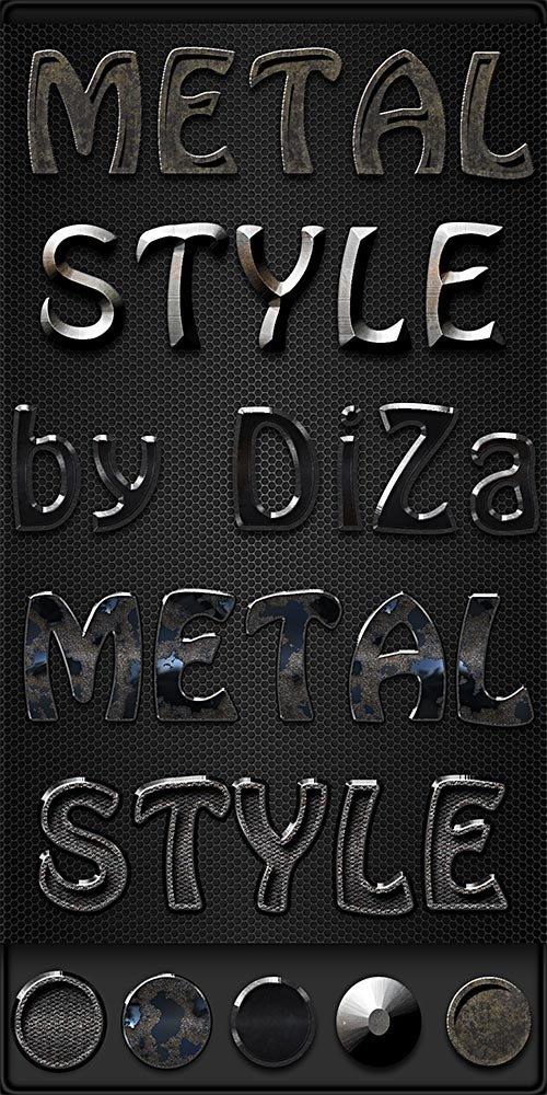 Металлические стили для дизайна