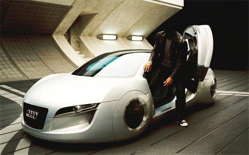 Шаблон мужской - Выходя из новенькой Audi