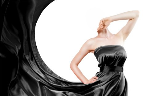 Шаблон для девушек - В шикарном черном платье