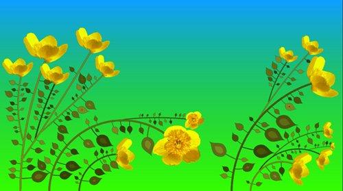 Футаж Распускающиеся цветы