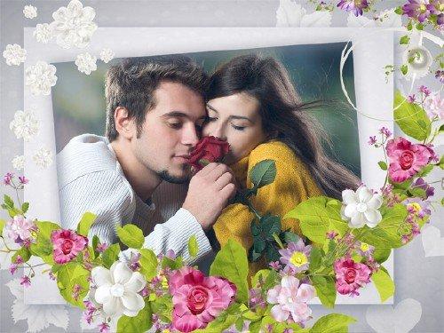 Романтическая рамка для фотошопа - Мгновения нежные