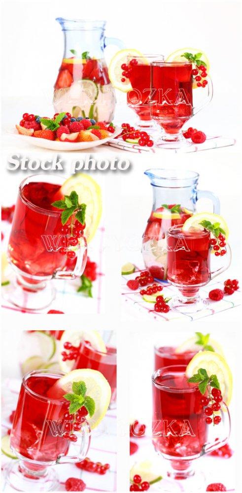 Фруктовые напитки / Fruit drinks - Raster clipart