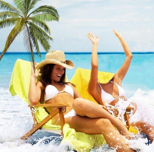 Женский шаблон для девушек-великолепный отдых на море
