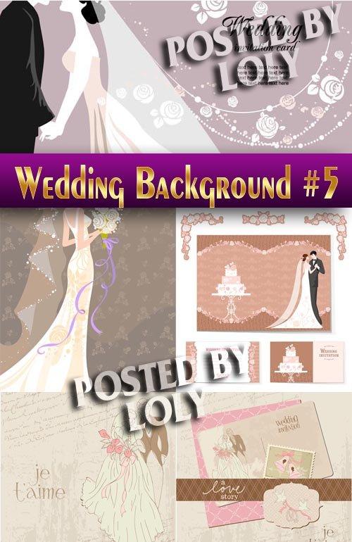 Свадебные Фоны #5 - Векторный клипарт