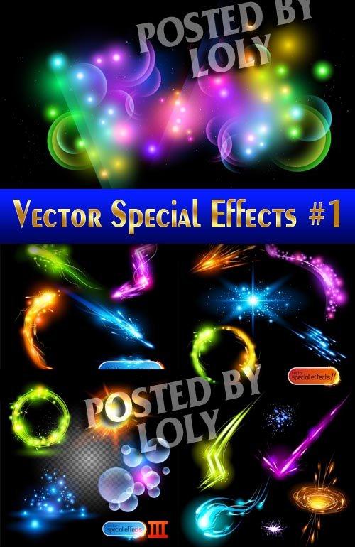 Эффекты в векторе #1 - Векторный клипарт