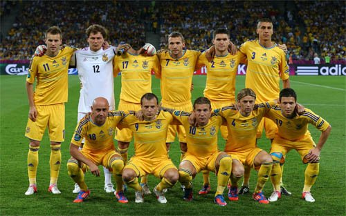 Шаблон для мужчин - Футболисты Украинской сборной