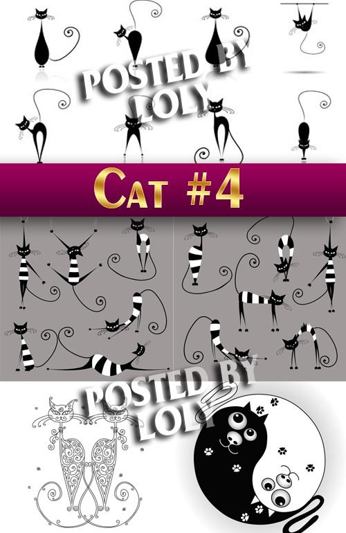 Чудесные котята #4 - Векторный клипарт