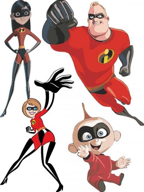Суперсемейка - векторные персонажи