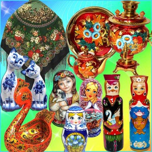 Русский сувенир – растровый клипарт на прозрачном фоне