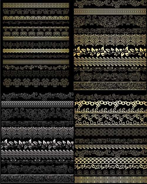 Клипарт - фотошоп бордюры для творческих работ на прозрачном фоне