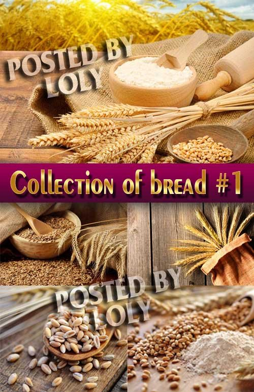 Еда. Мега коллекция. Хлеб и пшеница #1 - Растровый клипарт