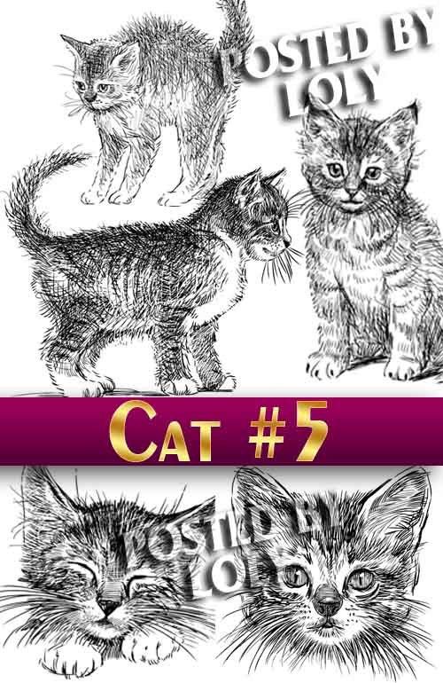 Чудесные котята #5 - Векторный клипарт