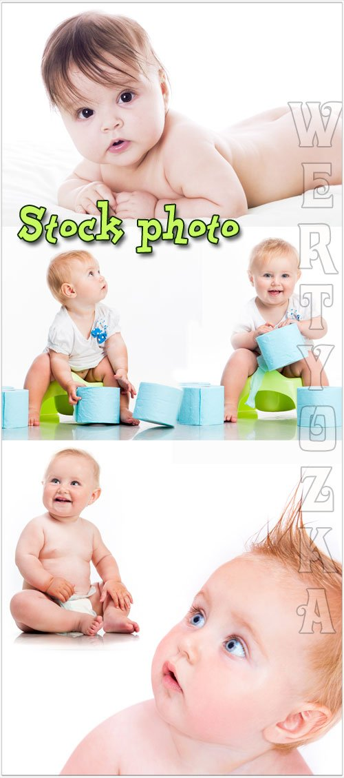 Забавные детки / Funny super kids - Raster clipart