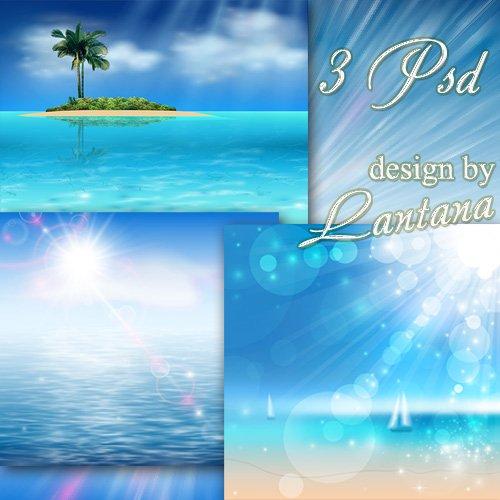 PSD исходники - Морская иллюзия