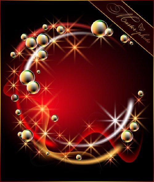 PSD исходник для photoshop - Абстрактный с пузырями
