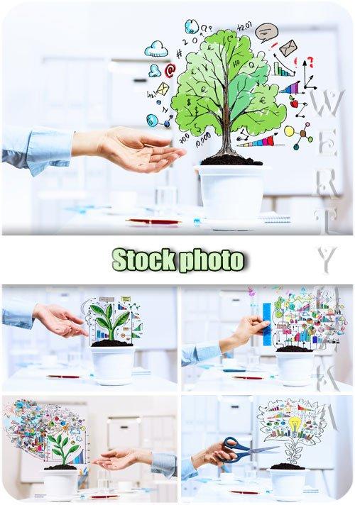 Бизнес планы, успешность, рост / Business plans, success, growth - Raster c ...