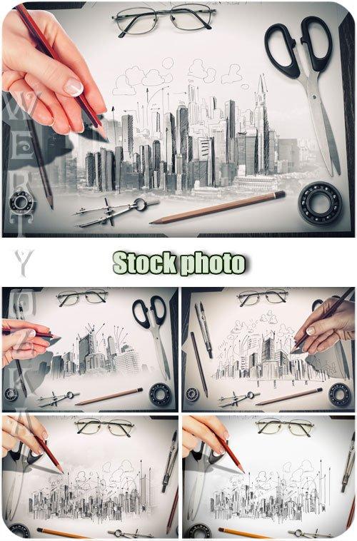 Архитектура и дизайн / Architecture and Design - Raster clipart