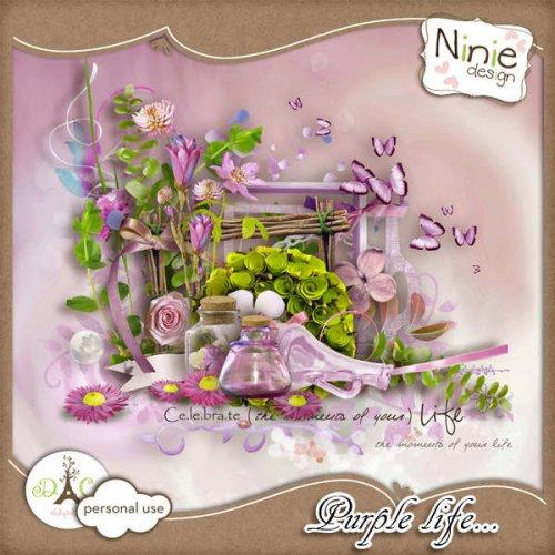 Скрап-набор Purple life