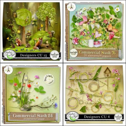 15 scrap kits by Starlight Designs