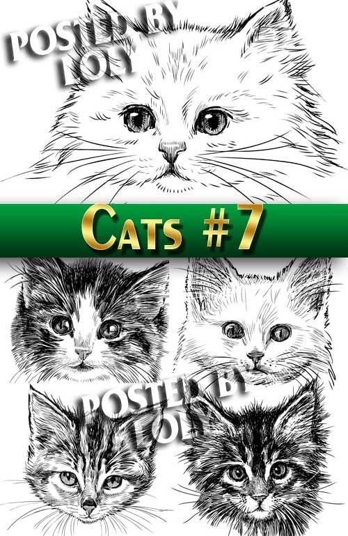 Чудесные котята #7 - Векторный клипарт