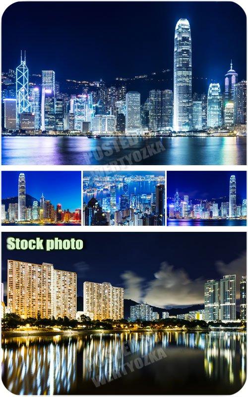 Ночной город, разноцветные огоньки /  Night city, multi-colored lights - Ra ...